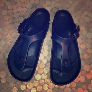 Birkenstock Gizeh Dark Blue Rubber Slide Sandals
